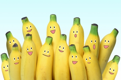 Isn't this a cute group of bananas?
